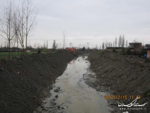 اجرای عمليات لايروبي در رودخانههای شهرستان گنبدکاووس