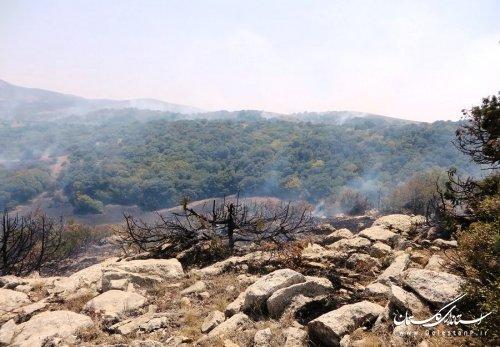 احتمال شعله ور شدن آتش در جنگل گلستان وجود دارد