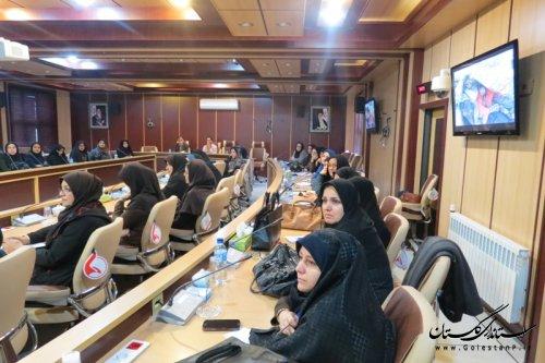گزارش تصویری آموزش بانوان در اداره کل مدیریت بحران گلستان