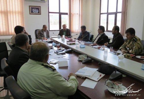 گزارش تصویری کارگروه امنیت مدیرت بحران گلستان