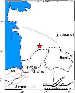 زلزله شدیدی مراوهتپه را لرزاند