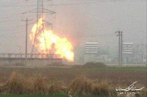 انفجار در نیروگاه برق علی آباد کتول/ نقص فنی در سیستم فشارشکن گاز علت انفجار