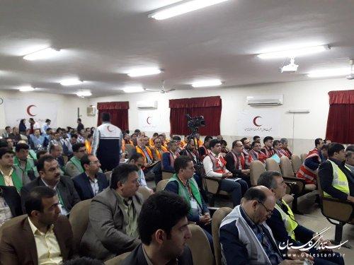 دوره آموزش و تمرینی مدیریت بحران در گرگان برگزار شد