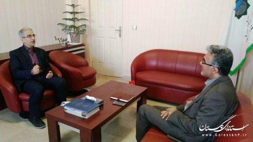 دیدار سرپرست مدیریت بحران گلستان با مدیرکل آموزش و پرورش استان گلستان