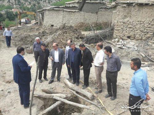 بازدید از طرح تثبیت روستای نرگسچال آزادشهر