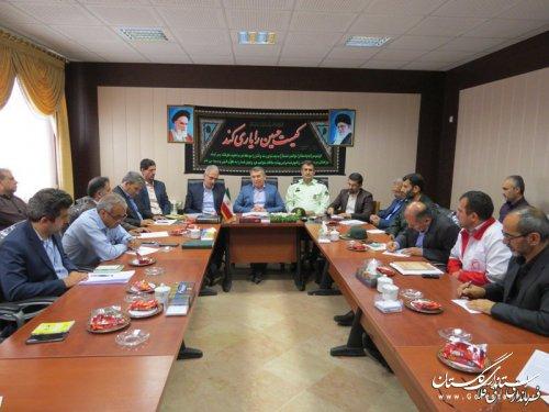 هماهنگی بین دستگاهها در زمان بحران یک ضرورت انکارناپذیر است/ برگزاری جلسه ستاد مدیریت بحران آققلا با حضور مدیرکل مدیریت بحران گلستان