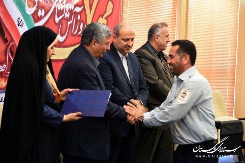 حضور مدیرکل مدیریت بحران گلستان در مراسم تجلیل از آتشنشانان استان