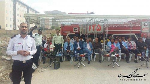 مانور اطفای حریق آتشنشانی با حضور مدیرکل مدیریت بحران برگزار شد + تصاویر