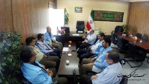 بازدید مدیرکل مدیریت بحران گلستان از فرمانداری و پروژه های حوادثی شهرستان آزادشهر