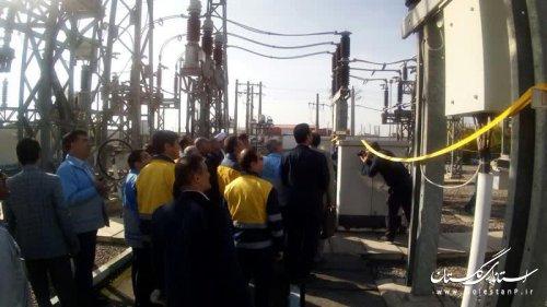 حضور جمالی مدیرکل مدیریت بحران در مانور قطع برق آققلا