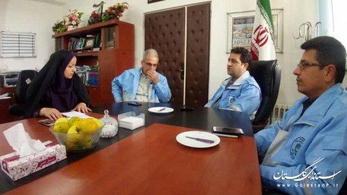 بازدید مدیرکل مدیریت بحران گلستان از فرمانداری و پروژههای حوادثی بندرگز