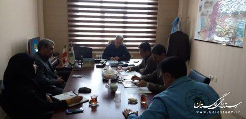برگزاری جلسه هماهنگی برگزاری بیستمین مانور سراسری زلزله و ایمنی در مدیریت بحران گلستان