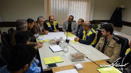 برگزاری مانور واقعی سطح A شرکت گاز در مرکز استان گلستان با حضور معاون اداره کل مدیریت بحران استان