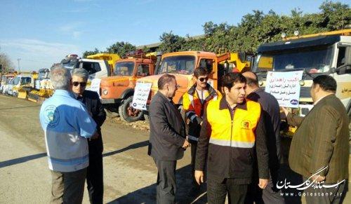 حضور مدیرکل بحران گلستان در مانور آمادگی و عملیات زمستانه راهداری گلستان