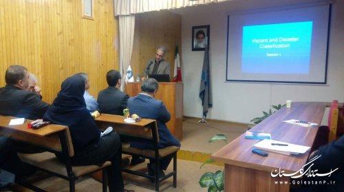 سخنرانی مدیرکل مدیریت بحران گلستان در دانشگاه گلستان