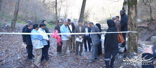افتتاح پروژه سنگی ملاتی سرشاخهگیر گرمابدشت اداره کل منابع طبیعی گلستان