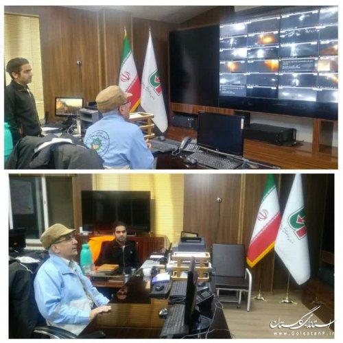 حضور بامدادی مدیرکل بحران گلستان در مرکز کنترل عملیات راهداری استان