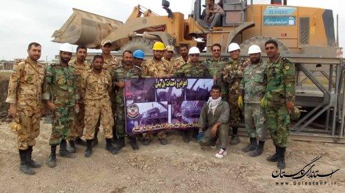 هدیه ارتشیان دلاور به مردم آق قلا در روز ارتش
