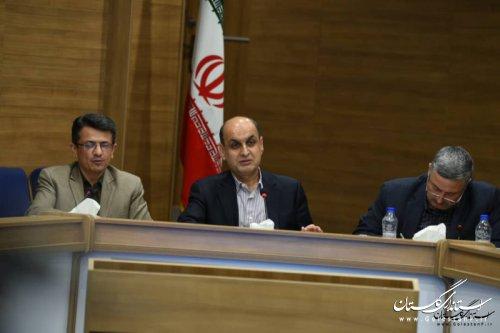 استاندار گلستان در بیست و یکمین جلسه قرارگاه بازسازی و نوسازی مناطق سیل زده استان: تلاش همه دستگاه های اجرایی و بانکها از بین بردن آثار سیل است