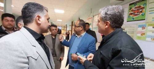 عیادت نمایندگان استاندار گلستان از مصدومان حادثه واژگونی اتوبوس تهران_ گنبدکاووس