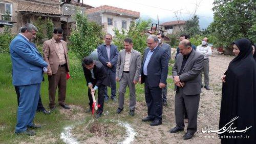 مراسم کلنگ زنی احداث 200 واحد مسکونی در روستای لیسه شهرستان مینودشت
