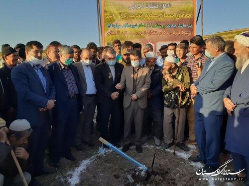 کلنگ زنی شروع عملیات اجرایی احداث واحدهای طرح جابجایی روستای آق امام مراوه تپه