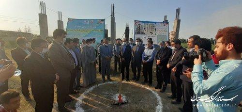 کلنگ زنی و آغاز عملیات اجرایی احداث ۱۵۰ واحد مسکن محرومین با حضور استاندار گلستان