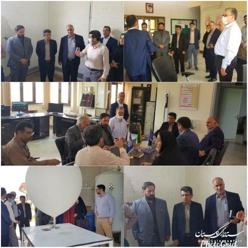 حضور مدیر کل مدیریت بحران استان در اداره کل هواشناسی
