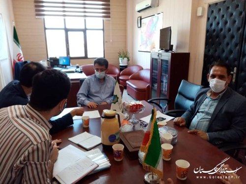 جلسه بررسی پروژه های بازسازی اداره کل راهداری از محل اعتبارات ماده ۱۰ سیل