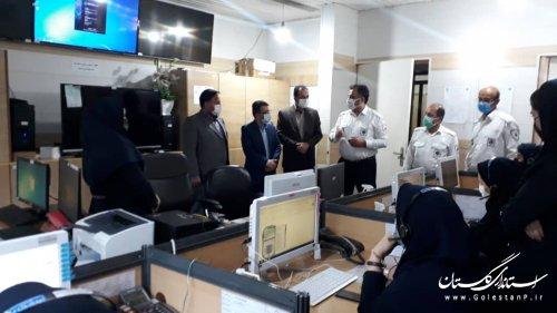 بازدید مدیرکل مدیریت بحران استان از مرکز مدیریت فوریتهای پزشکی استان