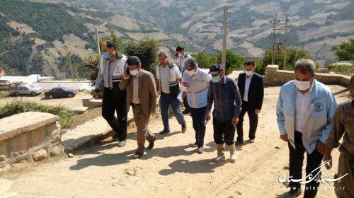 بازدید مدیرکل مدیریت بحران استان به اتفاق سرپرست فرمانداری شهرستان رامیان از روستاهای خسارت دیده از زلزله