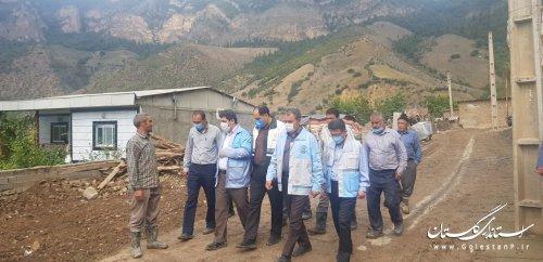 بازدید مدیر کل بازسازی سازمان مدیریت بحران کشور از روند بازسازی روستای زلزله زده قورچای رامیان