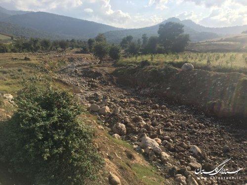 بازدید آقای مهندس جهانی مدیرکل بازسازی سازمان مدیریت بحران کشور از طرح های ساماندهی سیلاب شهرستان آق قلا