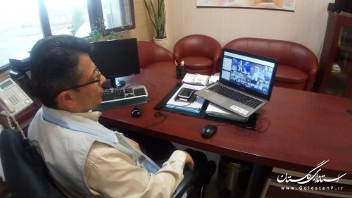 حضور مدیرکل مدیریت بحران در جلسه ویدیو کنفرانس استانهای معین تهران