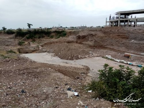 بازدید مدیرکل مدیریت بحران استان از اجرای طرح های ایمن سازی پل شهرستان علی آباد کتول