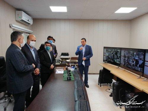 مهندس سیدرضا قادری  مدیرکل مدیریت بحران استان به اتفاق مهندس مقدم مدیرکل پدافندغیرعامل استان از مرکز مانیتورینگ اداره کل غله استان بازدید کردند .
