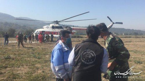آخرین وضعیت عملیات اطفاء آتش سوزی ارتفاعات توسکستان منطقه پمبول چال(خبر تکمیلی)