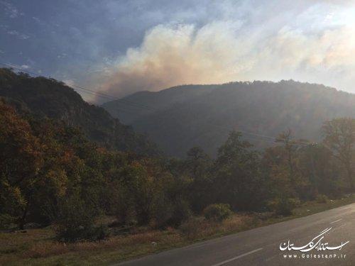 آخرین گزارش از وضعیت منطقه دچار آتش سوزی پنبول چال توسکستان گرگان