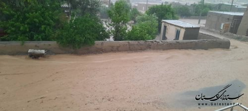 وقوع بارش باران و تگرگ رگباری در مراوه تپه
